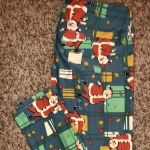 Lularoe Christmas Leggings. Size OS